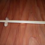 板蕎麦 香り家 - 箸置きは殻付き落花生