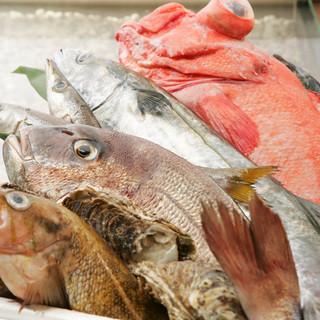 全国各地から仕入れるこだわり鮮魚