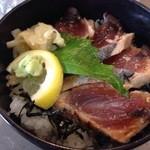 ととや - カツオ塩たたき丼(土佐風塩ポン酢)9.10月限定メニュー