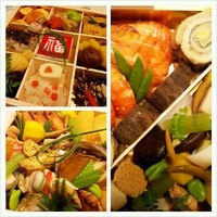 日本料理 きく井 - 「おせち料理 二段 三~四人前」 で税込35000円で100食限定です。