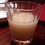 焼肉トラジ - トラジ マッコリ グラス¥520-