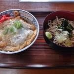 江戸家 - 半カツ丼+半そばセット 500円