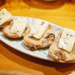 ししまる食堂 - ブルーチーズのタルティーヌ(500円)