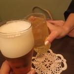 鯛麺真魚 - 生ビール、ハイボール