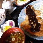 麦とろ - 味噌カツ定食670円