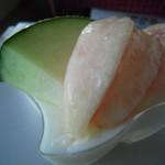 喜多屋果実店 - 桃とメロンが乗ったミルクゼリー