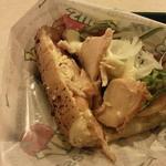 サブウェイ - 「2014秋のセット」よりクラブハウスサンドイッチ(ベーコン&チキンと半熟たまごサラダ)のアップです。