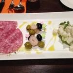 個室イタリアン×創作バル くらうど - 冷前菜。クリームチーズと大根のマリネが秀逸