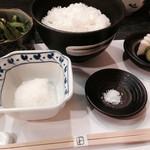 天ぷら わかやま - 小ライスにするのを失念。
