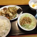 中国家庭料理 誠苑 - キャベツと豚肉の甘辛味噌炒め@860円