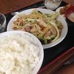 中華料理 餃子屋台 - 鶏肉きゃべつ定食