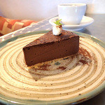 魔法珈琲 - チョコレートチーズケーキ