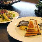 Cafe de 佛蘭西 - ホットサンド(海老)