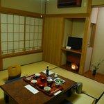 奈良屋旅館 - (夕食)宿泊とは別の個室にて