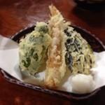 小代 行川庵 - 野菜天麩羅盛り合わせ
