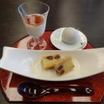 胡蝶 - お昼の和定食 デザート
