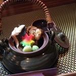 恵や - 岡山県産松茸の土瓶蒸し