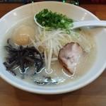 味の蔵 ススキノ店 - 塩タマゴストレート麺