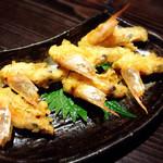 三枚目!貝柱海老蔵 - 車海老の頭は天ぷらにしてくれます