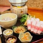 和顔施 - 料理写真:金華豚ももしゃぶしゃぶ御膳