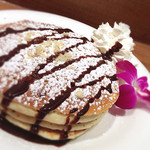 コアパンケーキハウス - チョコとナッツのパンケーキ