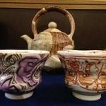 鮨旬美西川 - 美濃焼作家絵柄陶器カップです。このカップで飲まれたい方是非‼