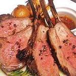 ラ ボッテガ デル オーリオ - NZ産骨付き仔羊ロース炭火焼き カチャトーラ(アンチョビとワインビネガー)ソース