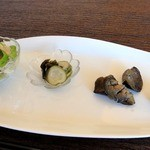 民音 - 料理写真:日替り彩り定食 ¥1030(税込)の 前菜