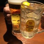 31352419 - ビールとシュワシュワで乾杯〜♪