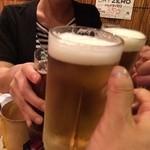 ジョニーのからあげ - 店の方と乾杯~~~ ※2014年10月