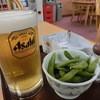 露天こぶしの湯 - 料理写真:生ビール(620円)と枝豆(250円)