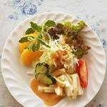 裏磐梯高原 カフェ 時の河 - 料理写真:monmo推薦カフェ【星の雫】ランチのサラダ