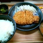 かつ丼屋 - 厚切りロースかつ定食(745円)