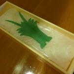 味の笹義 - 白えびの寿し ¥1700