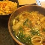 平野町 入福 - きざみうどんとミニカツ丼