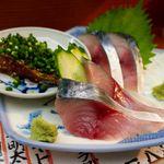 31376218 - 鯖(刺身+しめ鯖+ゴマ鯖)