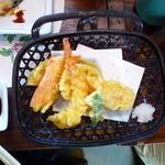 活魚茶屋 ざうお - エビ、秋、野菜の天ぷら