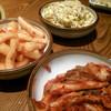 富士屋 - 料理写真:白菜キムチ、カクテキ、モヤシナムル