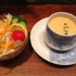 ミルカ - セットのサラダ・スープ