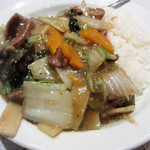 蘭苑飯店 - レバー旨煮ご飯
