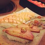 31390600 - お寿司も季節物が。炙り秋刀魚、合鴨ロース煮、炙りトロサーモンは食べ放題にしちゃいけないレベルの旨さでした。