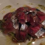 ヴィーノロマンティカ - 秋刀魚の軽いマリネ、すだちソース