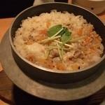 鳥キング - 鶏釜飯炊きあがり
