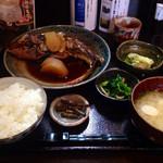 和食堂 穰(ゆたか) - 201409 煮魚定食(1050円、ホウボウの煮付け)