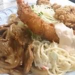 キッチン南海 - 唐揚、海老フライ、生姜焼き