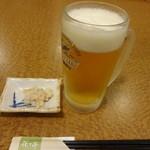 ホテルルートイン豊川インター - 生中ジョッキ(450円)