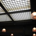 茶寮 かすみ草 - 喫茶の天井