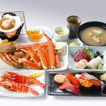 北の漁場 - 料理写真:【本館】三大ガニ漁場御膳