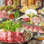 海鮮居酒屋 えん屋 - 牛すき焼きコース