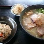 きりん - 2014年10月 塩ラーメン定食(麺大盛り)